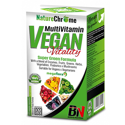 Multi Vitamin Vegan Vitality - Beverly - 80 cápsulas