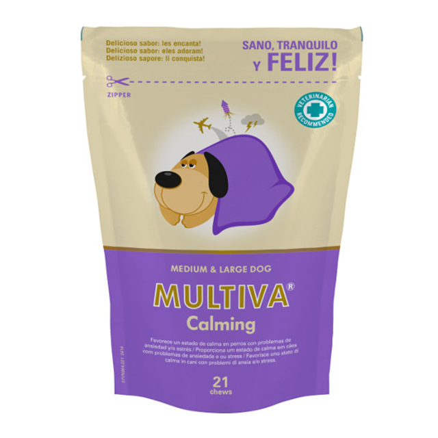 Multiva Calming Medium And Large Dog - VetNova - 21 Chews