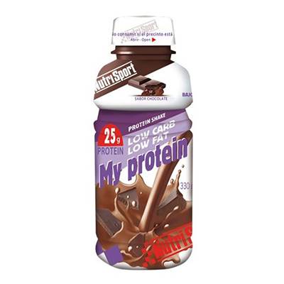 My Protein Chocolate - NutriSport - 12 botellas de 330 ml.