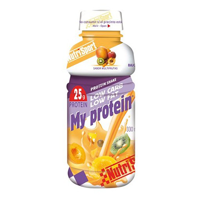 My Protein Multifrutas - NutriSport - 12 botellas de 330 ml.