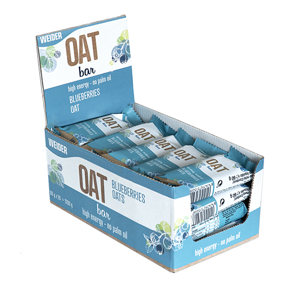 Oat Bar Blueberry - Weider - 20u. x 60 g .