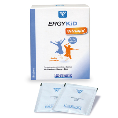 Pack 3 Ergykid Vitamin - Nutergia - 14 sobres