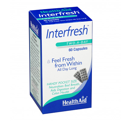 Pack 3 Interfresh - HealthAid - 60 cápsulas