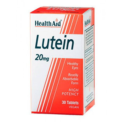 Pack 3 Luteína 20 mg - HealthAid - 30 comprimidos