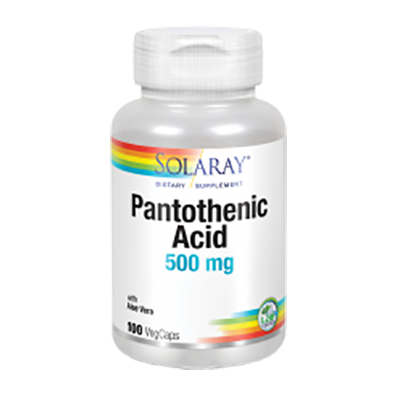 Pantotenic Acid 500 mg. - Solaray - 100 cápsulas