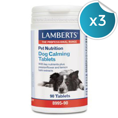 PET NUTRITION DOG CALMIN - Lamberts - 90 cápsulas (Pack 3 unidades)