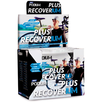 Plus Recoverium, envase de 12 sobres de Just Podium.
