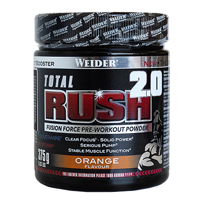 Pre-entreno Total Rush 2.0 Orange - Weider - 375 g.