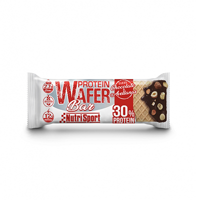 Protein Wafer Bar Chocolate & Avellanas - NutriSport - 15 barritas