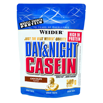 Proteínas Day & Night Casein Chocolate - Weider - 500 g.
