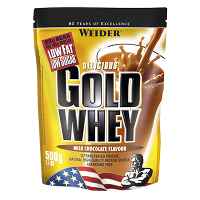 Proteínas Gold Whey Chocolate - Weider - 500 g.