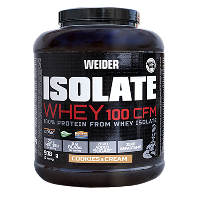 Proteínas Isolate Whey 100 CFM Cookies - Weider - 2 kg.