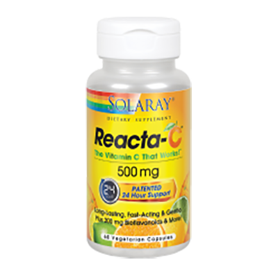 Reacta C 500 mg. - Solaray - 60 cápsulas vegetales