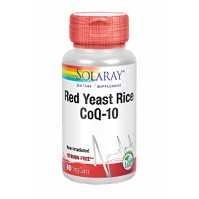 Red Yeast Rice Plus Q10 - Solaray - 60 cápsulas vegetales