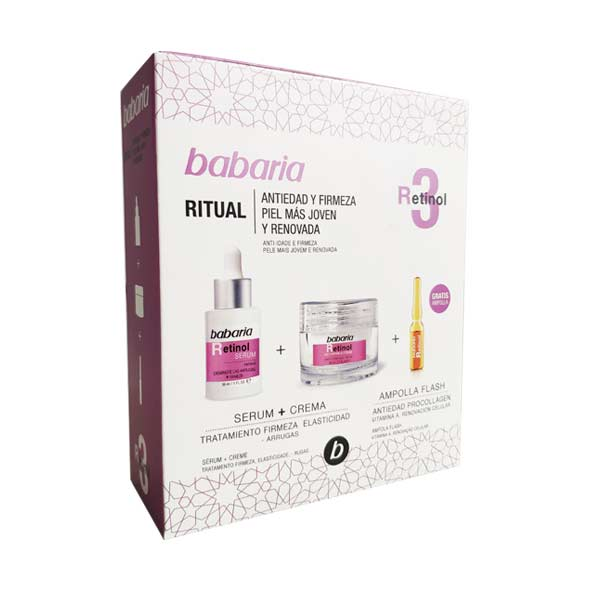 Retinol Estuche - Babaria - Serum 30 ml. + Crema 50 ml. + 1 Ampolla Flash