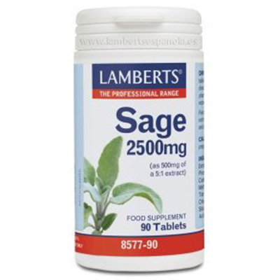 Salvia 2500 mg - Lamberts - 90 Tabletas