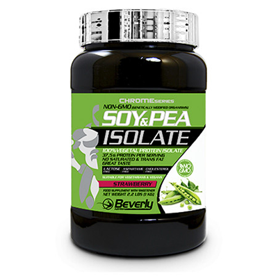 Soy & Pea Isolate - Strawberry - Beverly - 1 kg.