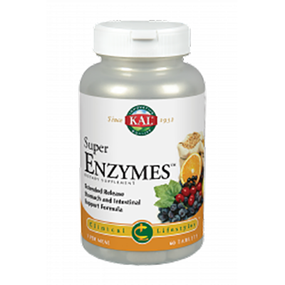 Super Enzymes Accion Prolongada - Kal - 60 comprimidos