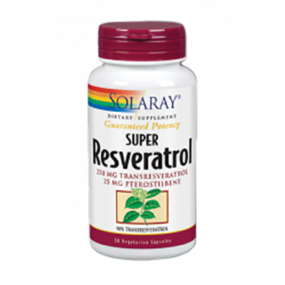 Super Resveratrol 250 mg. - Solaray - 30 cápsulas