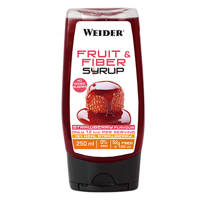 Syrups Fiber and Fruit Syrup Fresa - Weider - 250 ml.