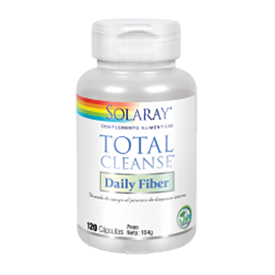 Total Cleanse Daily Fiber - Solaray - 120 cápsulas