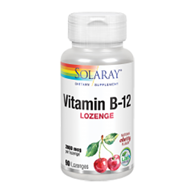 Vitamina B12 2000 mcg. - Solaray - 90 comprimidos - SUBLINGUALES