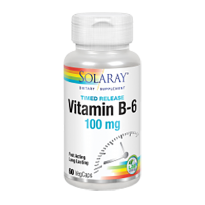 Vitamina B6 100 mg. - Solaray - 60 cápsulas