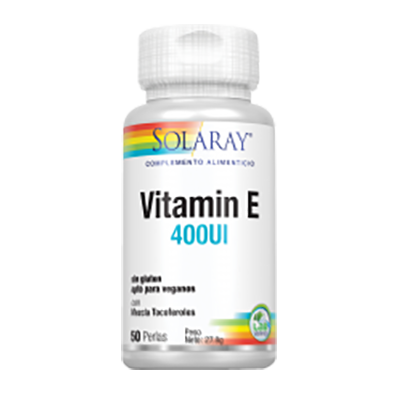 Vitamina E - Solaray - 50 perlas
