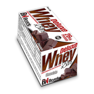 Whey Bar - Chocolate (45 gr. 12 gr. prot. / bar) - Beverly - 24 barritas
