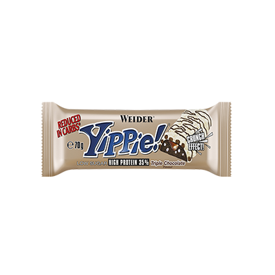 Yippie Bar Triple Choco - Weider - 12u. x 45 g.