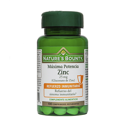 Zinc 25 mg. - Nature's Bounty - 100 comprimidos