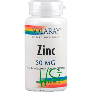 Zinc 50 mg - Solaray - 60 cap.